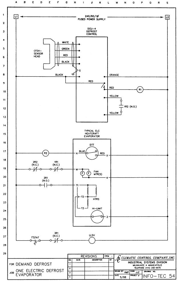 defrost termination switch wiring diagram demand defrost | industrial controls light switch wiring diagram power at switch